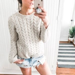 H&M Cozy Chunky Cable knit Med*
